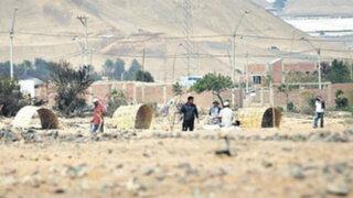 Mafias vuelven a invadir terrenos en Cañete