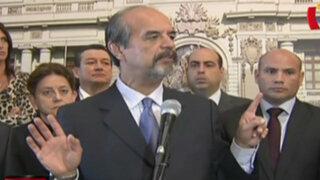 Oposición no acudiría a presentación de Cateriano en protesta contra Mesa Directiva