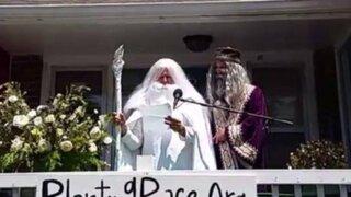 EEUU: así fue el matrimonio simbólico entre 'Gandalf' y 'Dumbledore'