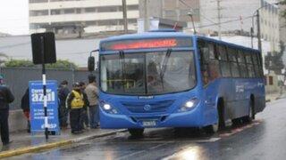 Amplían horario de circulación de buses del Corredor Azul