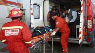 Ica: chofer resulta herido tras choque entre camioneta y autobús interprovincial