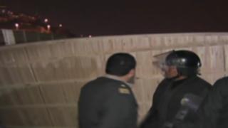 Autoridades desalojaron a sujetos que invadieron terreno cerca al penal Lurigancho