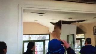 VIDEO: techo de estación de trenes se derrumba ante desconcierto de usuarios