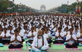 Celebran el primer 'Día Internacional del Yoga' en todo el mundo