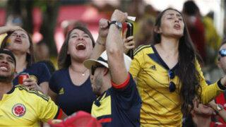 Así fue la reacción de los hinchas colombianos en Lima tras perder frente a Inglaterra