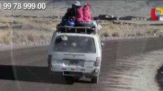WhatsApp: pasajeros arriesgan sus vidas al viajar en los techos de las combis