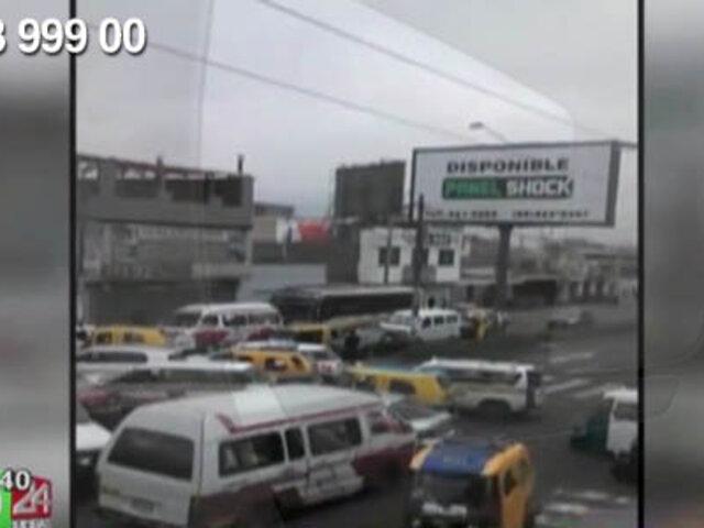 WhatsApp: cruce en SJM es un caos por falta de semáforos y policías