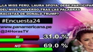 Encuesta 24: 69% cree que Miss Perú no debe participar en Miss Universo tras palabras de Donald Trump