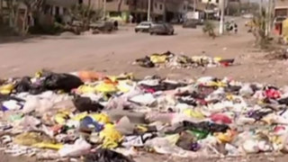 Calles de Villa María del Triunfo lucen llenas de basura