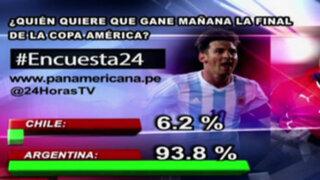 Encuesta 24: 93.8% quiere que Argentina gane la Copa América