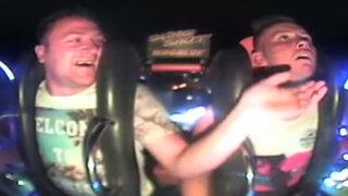 Youtube : sujeto ebrio pierde el conocimiento en plena montaña rusa