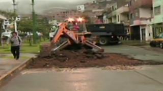 Rímac: ejecutan plan de desvíos vehicular por obras en avenida Amancaes