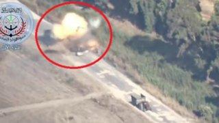 Increíble: Chofer sobrevive de milagro tras ser impactado por un misil en Siria