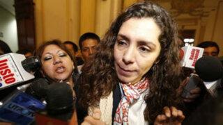 Rocío Calderón acudirá hoy al Congreso para responder por denuncias