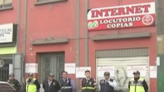 Lince: intervienen prostíbulo clandestino que tenía fachada de cabina de internet