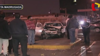 Choque entre autos deja un herido en La Victoria: excesiva velocidad habría causado accidente