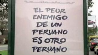 ¿El peor enemigo de un peruano es otro peruano?: psicólogo analiza campaña de polémicos carteles