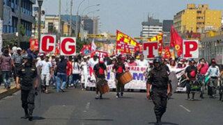 Así se llevó a cabo el paro nacional de la CGTP en Lima y provincias