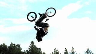 VIDEO : asi fue la primera cuádruple voltereta hacia atrás en BMX