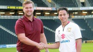 Cristian Benavente es oficialmente nuevo jugador del MK Dons de Inglaterra