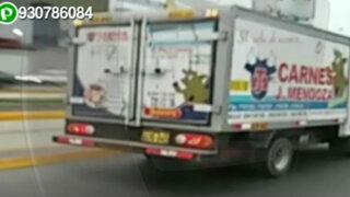 WhatsApp: camión circula por Vía Expresa de Paseo de la República