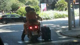 YouTube : ¿Es posible llevar una maleta en una motocicleta?