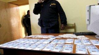 Capturan a banda de falsificadores de billetes en SJL