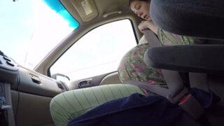 VIDEO : mujer dio a luz en pleno tráfico en una carretera de Houston