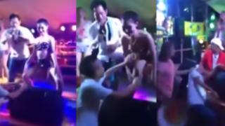 YouTube: hombre toqueteaba a una mujer sin recordar que su esposa estaba presente