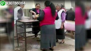WhatsApp: denuncian que iglesia evangélica invade la vereda para instalar puestos de comida