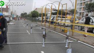 WhatsApp: tráfico en avenida Brasil por instalación de tribunas para Desfile Militar