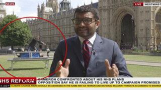 Reino Unido : ilusionistas se colaron en plena transmisión de noticiero