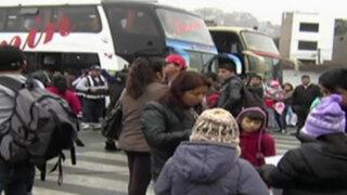 Terminal Yerbateros: pasajeros varados por huaico en Carretera Central