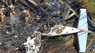 Japón: caída de avioneta en zona residencial deja tres muertos y cinco heridos en Tokio