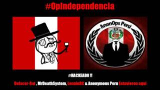Anonymous hackeó portal del Estado Peruano