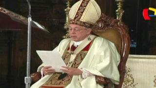 Cardenal Cipriani habló de corrupción en Te Deum