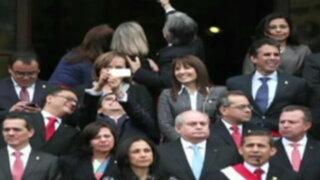 Ministro del Ambiente minimiza críticas por 'selfie' durante discurso del presidente