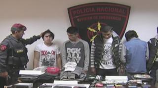 VMT: Policía capturó a cinco 'raqueteros' que asaltaron a pareja