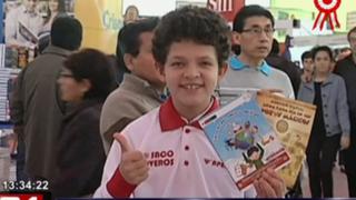 FIL: Tiene solo 10 años y ya presenta su segundo libro