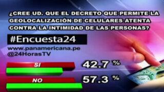 Encuesta 24: 57.3% no cree que ley de geolocalización atenta contra la intimidad
