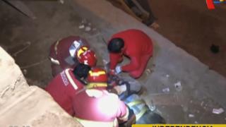 Sujeto en estado de ebriedad cae desde muro de cuatro metros en Independencia