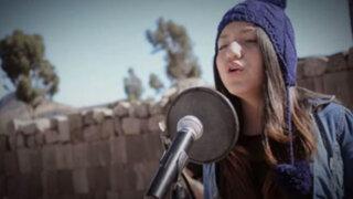 VIDEO: joven ayacuchana canta en Quechua tema  de Michael Jackson