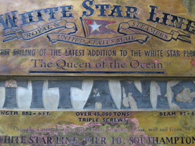 Encuentran una placa original del Titanic después de más de 100 años