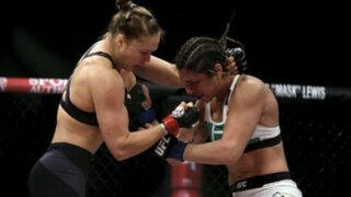 Ronda Rousey noqueó a su rival en solo 34 segundos y retuvo su título de la UFC