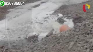 Denuncian que desde hace meses una empresa está contaminando el río Lurín