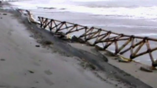 Pisco: malecón destruido por fuerte oleaje