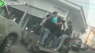 Fiscalizadores de la Municipalidad de Piura se trasladan de forma temeraria