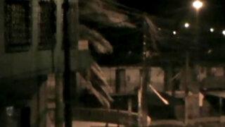 Iquitos: fuertes vientos afectan casas y derriban árboles