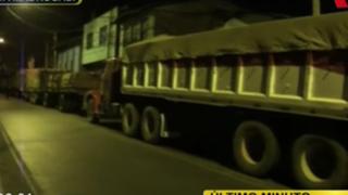 Trabajadores de Doe Run realizan paro en La Oroya: Carretera Central fue bloqueada