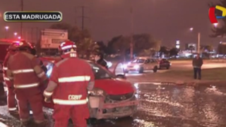Los Olivos: taxista ebrio choca contra auto y luego intenta fugarse